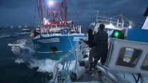 Boats collide over scallop fishing