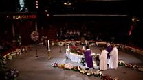 Mourners gather at circus for funeral
