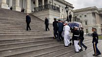 Political leaders pay tribute to McCain