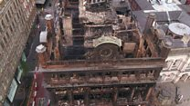 Drone footage shows Primark fire damage