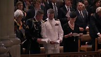Was God Save the Queen played at McCain's funeral?