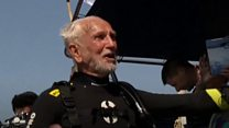 War veteran, 95, breaks own scuba diving record