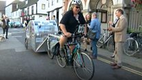 Epic cycle ride for prostate cancer