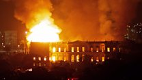 National Museum of Brazil on fire