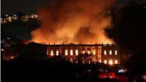 Le Musée national de Rio part en fumée