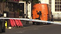 Controlled explosion on 'suspicious van'