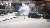 بالفيديو: لحظة  انفجار قرب السفارة الأمريكية بالقاهرة