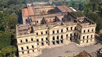 Así quedo el Museo Nacional de Río después de ser arrasado por un incendio