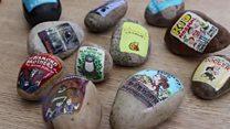 Hidden 'book pebbles' inspire reading