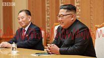 한국 특사단, 김정은 만나 문 대통령 친서 전달