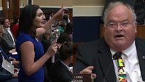 Congressman 'auctions' protester out of hearing