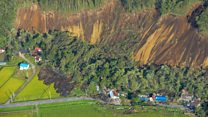 Landslides triggered by Japan quake