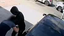 Footage of police officer stabbing