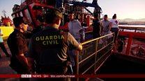 စပိန်ကို ဒုက္ခသည် စံချိန်တင် ဝင်ရောက်