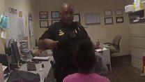 Officer under scrutiny for tasing girl