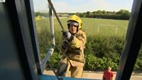 Firefighter blazing his way to the top