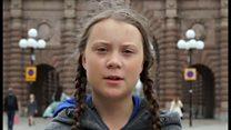 15歳少女、気候変動に抗議で2週間座り込み スウェーデン