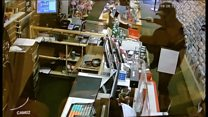CCTV footage of armed robbery