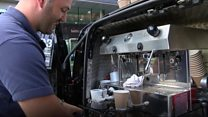 Veteran begins new life as a barista