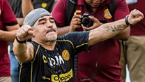 Maradona gives helping hand to Mexico team