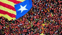 Thousands march in Barcelona streets