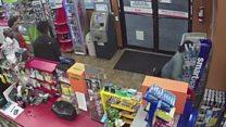 Collapsed clerk robbed