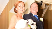 Transplant patient asks donor's dad to walk her down the aisle