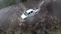 Floodwater rescues