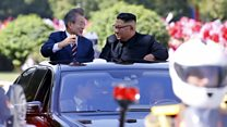 How North Korea welcomed the South Korean leader