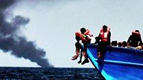 Libya migration: 'Their dead infants floating beside them'
