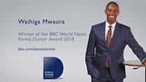 2018 Komla Dumor award-winner Waihiga Mwaura