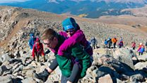 Why 27 hikers helped this woman up a mountain