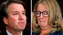 Emotional testimonies by Kavanaugh and Ford