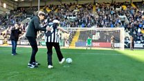 Roy, 94, scores penalty for Notts County