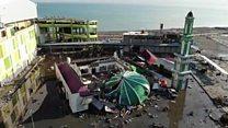 طائرة دون طيار تظهر الدمار الهائل الذي ضرب إندونيسيا بسبب الزلزال وتسونامي