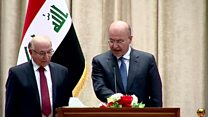 برهم صالح يؤدي اليمين الدستورية رئيسا للعراق