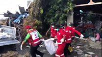 Aid effort under way for Indonesia survivors