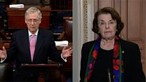 Feinstein and McConnell differ sharply