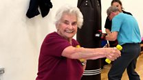 The exercise class for dementia patients