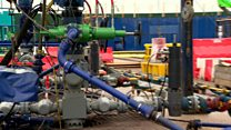 What does a fracking site look like?