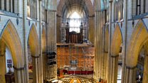 Cathedral organ pipes dismantled for refit