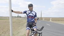 Cyclist breaks record to highlight mental health struggles