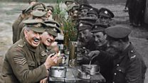 WW1 footage transformed into colour