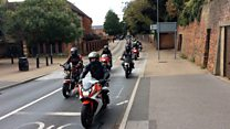 Bikers in procession tribute to man, 22