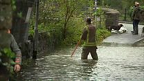 Homes hit by flooding from Storm Callum