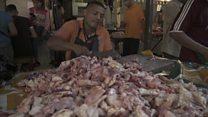 الأزمة في فنزويلا: الناس يأكلون اللحوم الفاسدة