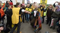 Dancing Westwood supports fracking protesters