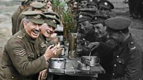 Film that brings colour to WW1 footage opens