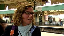 Frustrated passengers amid rail chaos