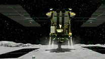 Space pioneers: Rovers put on an asteroid